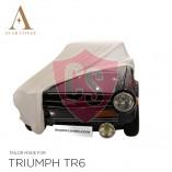 Triumph TR4 TR6 Indoor Autohoes - Maatwerk - Wit