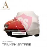 Triumph Spitfire Indoor Autohoes - Maatwerk - Wit