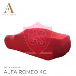 Alfa Romeo 4C Spider Indoor Autohoes - Maatwerk - Rood