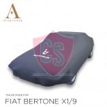 Fiat X 1/9  Indoor Autohoes - Bertone Opdruk - Zwart