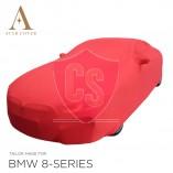 BMW 8 Serie Cabrio G14 Indoor Autohoes - Spiegelzakken - Rood