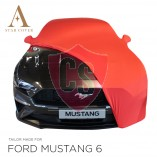 Ford Mustang 6 Cabrio Indoor Autohoes - Spiegelzakken - Rood