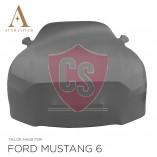 Ford Mustang 6 Cabrio Indoor Autohoes - Spiegelzakken - Grijs