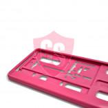 Kentekenplaathouder in roze (1 stuk)