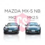Mazda MX-5 NB RVS Grille Voorbumper -BLACK EDITION 2002-2005