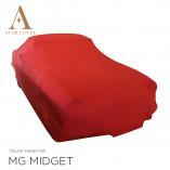 MG Midget Indoor Autohoes - Rood