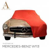 Mercedes-Benz W113 Pagode Autohoes - Maatwerk - Rood