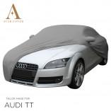 Audi TT 8J Roadster Indoor Autohoes - Spiegelzakken - Zilvergrijs