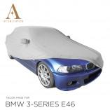 BMW 3 Serie Cabrio E46 Indoor Autohoes - Spiegelzakken - Zilvergrijs