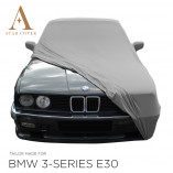 BMW 3 Serie Cabrio E30 Indoor Autohoes - Spiegelzakken - Zilvergrijs