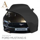 Ford Mustang 6 Cabrio Indoor Autohoes - Spiegelzakken - Zwart