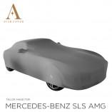 Mercedes-Benz SLS AMG Roadster Indoor Autohoes - Spiegelzakken