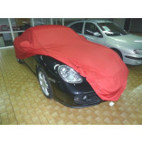 Porsche Boxster 718 Autohoes - Maatwerk - Spiegelzakken - Satin Rood