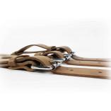 Bagageriemen van hoogwaardig leder in bruin