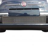 Fiat 500 RVS Koelgrill 1-delig 2007-2015