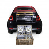 Cabrio picknickmand voor 4 personen 55 x 37 x 21 cm