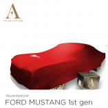 Ford Mustang I 1964-1967 Indoor Autohoes - Rood met Pony opdruk