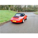 Porsche 993 cabriokap - PVC achterruit 1994-1998