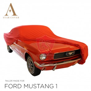 Ford Mustang Cabriolet Indoor Autohoes - Rood