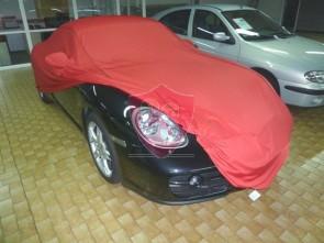 Porsche Boxster 987 Autohoes - Maatwerk - Spiegelzakken - Satin Rood