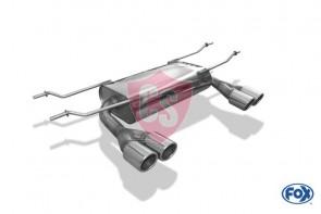 FOX Mazda MX-5 ND Endschalldämpfer Quer Ausgang Links & Rechts  - 2 x70 Typ 16
