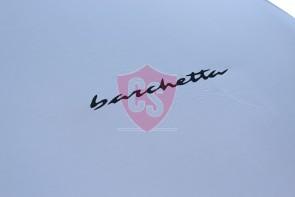 Fiat Barchetta Indoor Autohoes - Zilvergrijs - Opdruk
