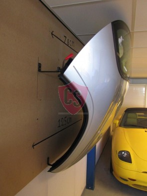 Porsche 993 Hardtop Wandbeugels