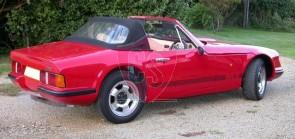 TVR S1, S2, S3 Sonnenland A5 cabriokap - achterruitsectie 1986-1993